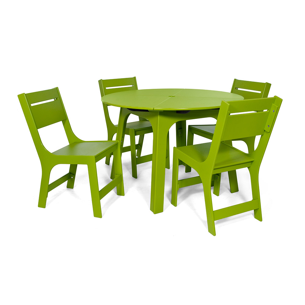 Green Round Table.Alfresco Round Table 44 Inch Loll Trade